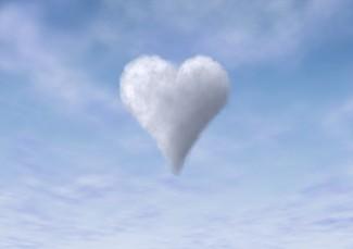 Herz als Wolke